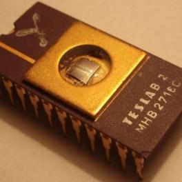 MHB2716C (I2716) EPROM TESLA Vintage Gold Ceramic